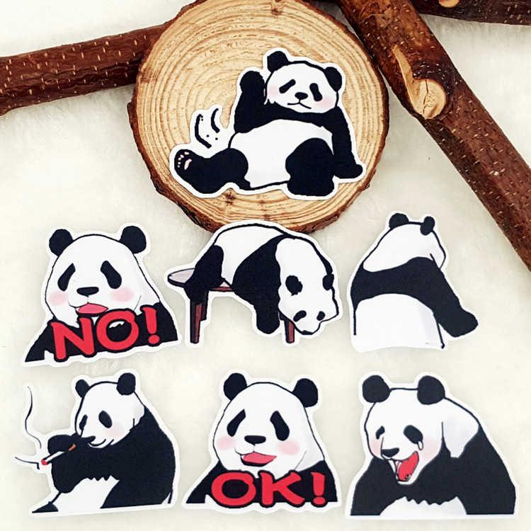 40 قطعة/الحقيبة الصينية الباندا الحيوان ألبوم القصاصات تحفة ديكورية مضادة للماء ملصقات لتقوم بها بنفسك اليدوية هدية سكرابوكينغ ملصق