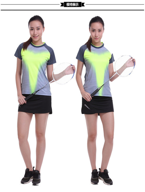 Men's and women's tennis sport T-shirt comfortable breathable quick-drying