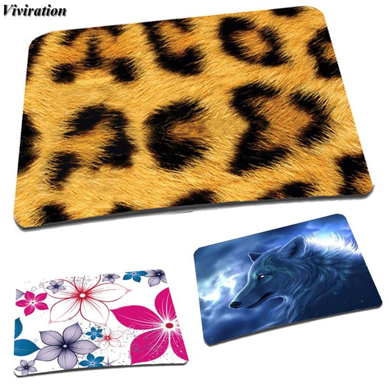 Qis Bag Trading Store Rubber Women Office Mouse Pad Mat Viviration High Qulaity Anti-slip Gaming Mouse Pad Mat Leopard Printing