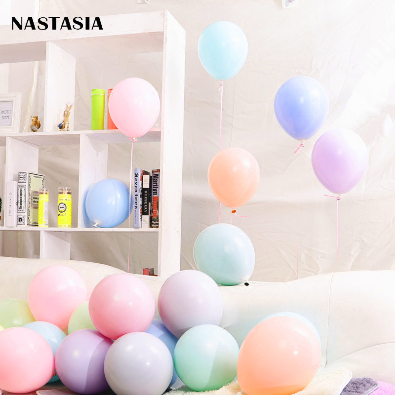 NASTASIA 5inch  Macaron candy balloon 100pcs/lot wedding decoration birthday party dream theme creative layout
