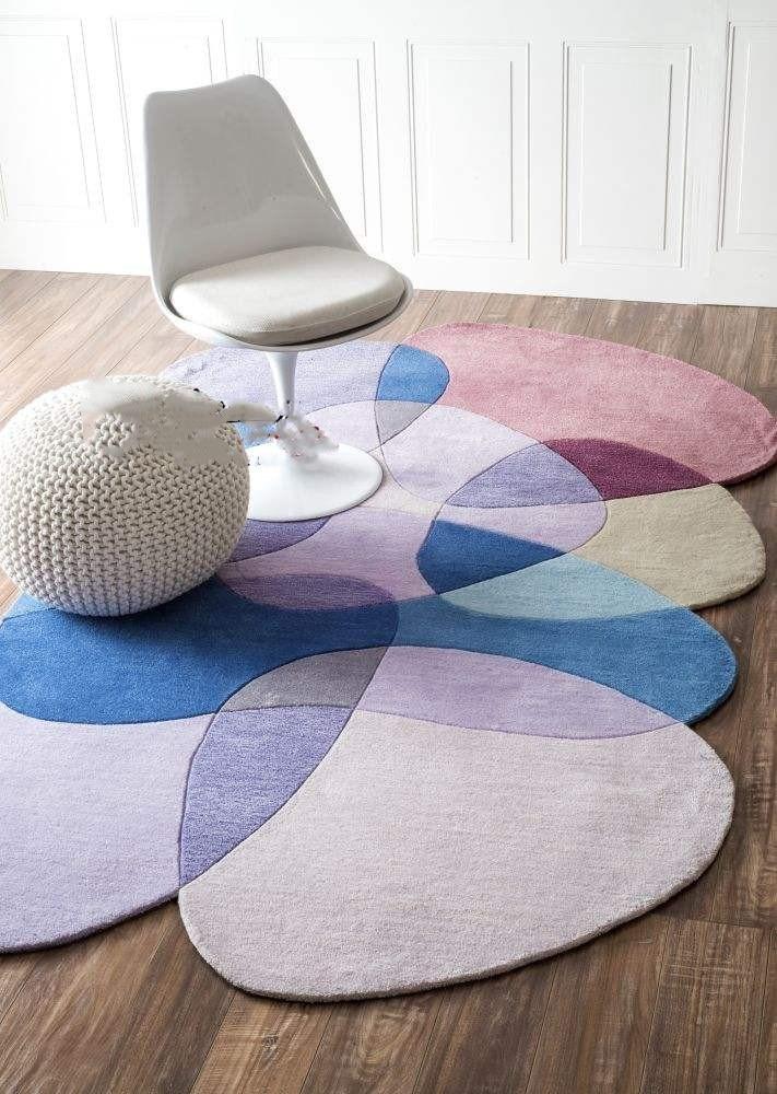 Nordique en forme moderne minimaliste tapis rond salon table basse chambre chevet tapis canapé complet tapis d'entrée