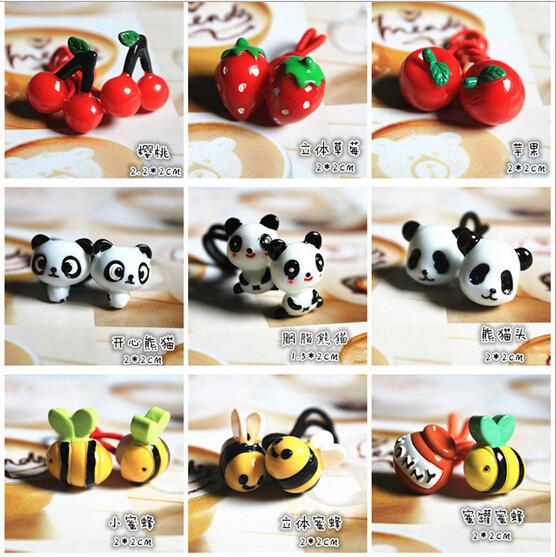 Children's hair accessories headwear Korea Meng Department of cute cartoon animal hair ring series
