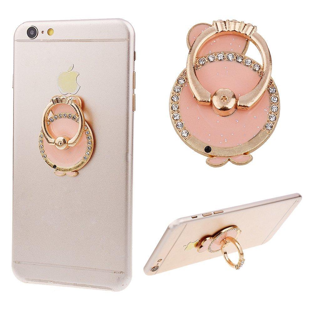 360 повернуть кольцо держатель подставка Bling алмазов сердце цветок вина кошка лиса Мех Поддержка Металл палец кронштейн смартфон 3D роскошные…