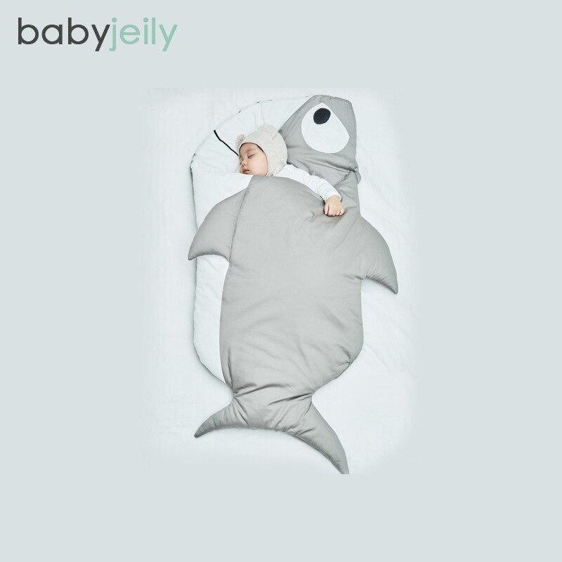 115 cm Shark Sleepsacks Pasgeboren Slaapzak Deken Winter Wandelwagen - Beddegoed - Foto 3