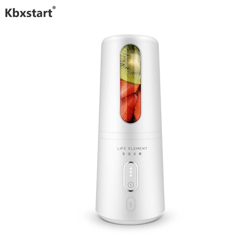 Mélangeur personnel Portable Kbxstart presse-agrumes rechargeable USB mélangeur de fruits et Smoothies plus rapide avec bouteille en verre 300 ML 7.4 V