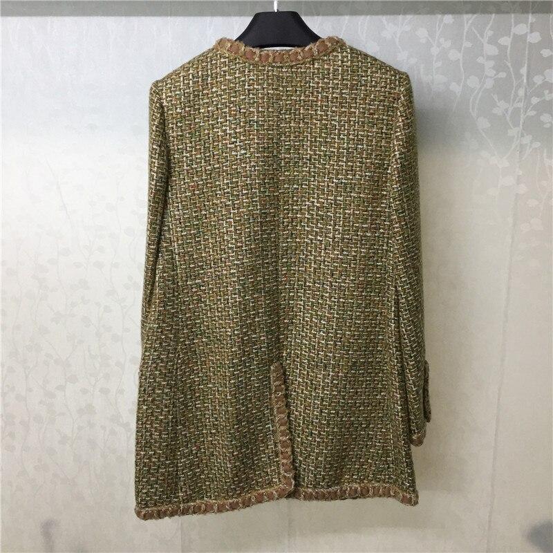 Manteau Mode cou Mélanges Veste O Unique Marque Femmes Outwear Qualité Poitrine Pour Haute FYnxdqOw