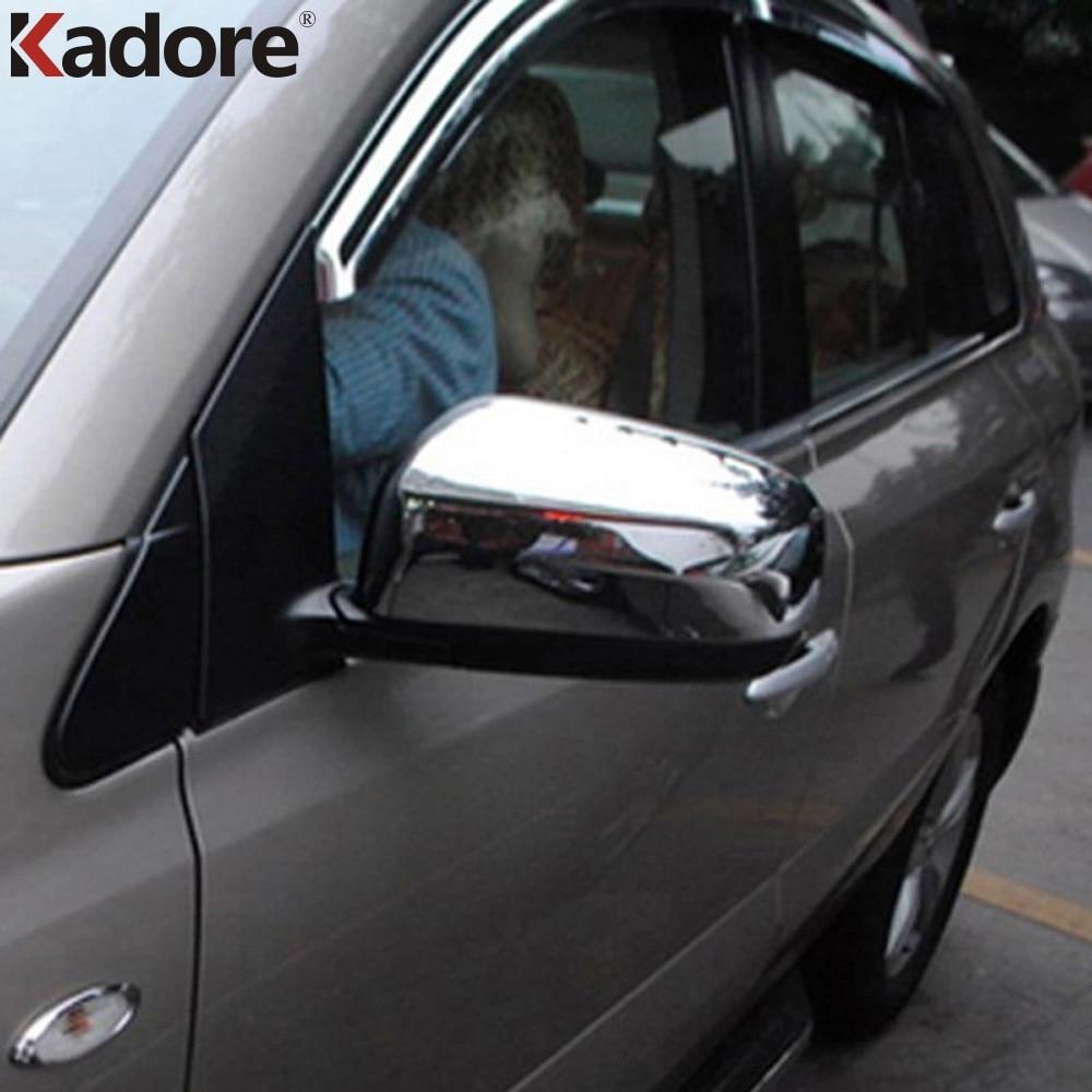 Kadore for 2008-2011 Nissan X-Trail Chrome Side Door Rear View Mirror Covers Cap Trim 2PCS