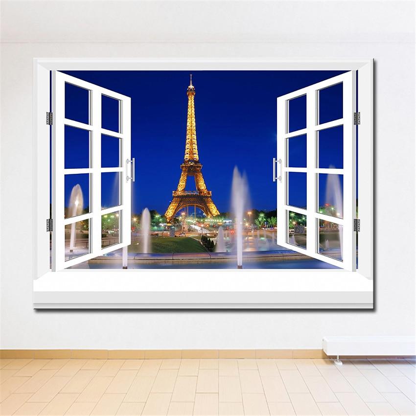3D eficaz ventanas edificio pared pintura inicio arte decorativo ...