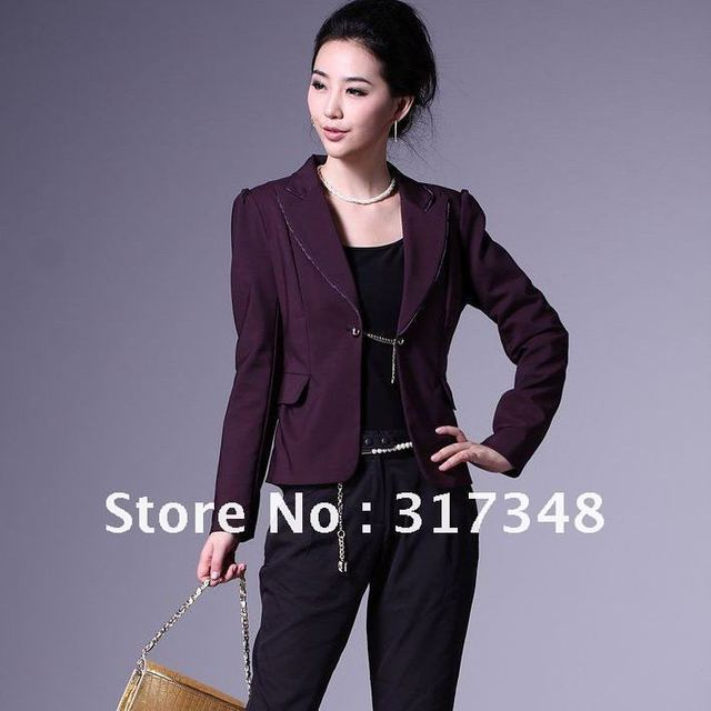 Free Shipping! Wholesale Women's lastest fashion suit ladies small