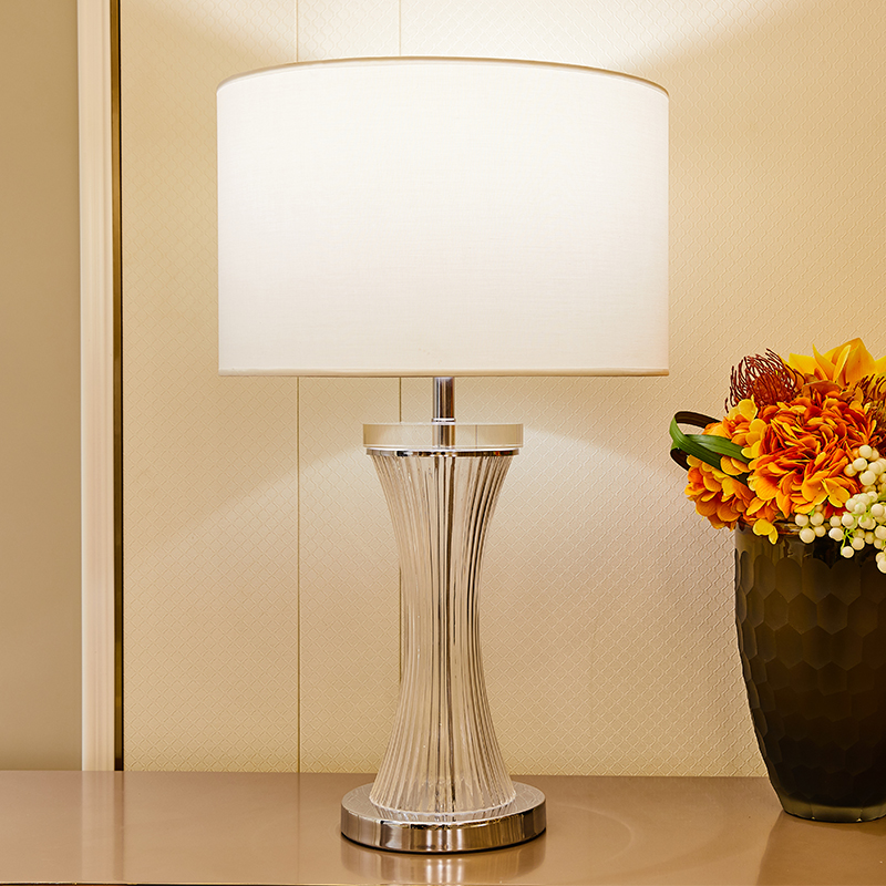 TUDA Crystal Table Lamps For Bed Room Living Vase Shape Led Glass Lamp Luxurious Home Decor 110v 220v