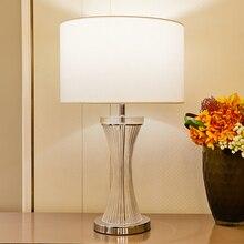 TUDA Crystal Table Lamps For Bed Room Living Vase Shape Led Glass Lamp Luxurious Home Decor 110v 220v