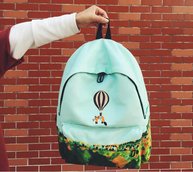 2019 новейший дизайн воздушный шар животных вышивка рюкзак 3D рюкзак в стиле Харадзюку рюкзак для девочки подростка школьная сумка