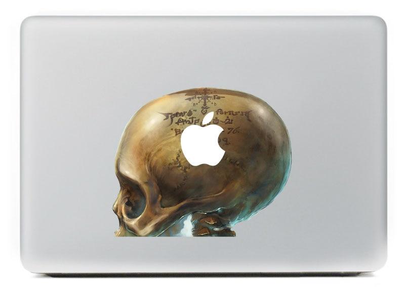 Engraved curse skulls Vinyl Decal Sticker for DIY Macbook Pro / Air 11 13 15 Inch Laptop Case Cover Sticker