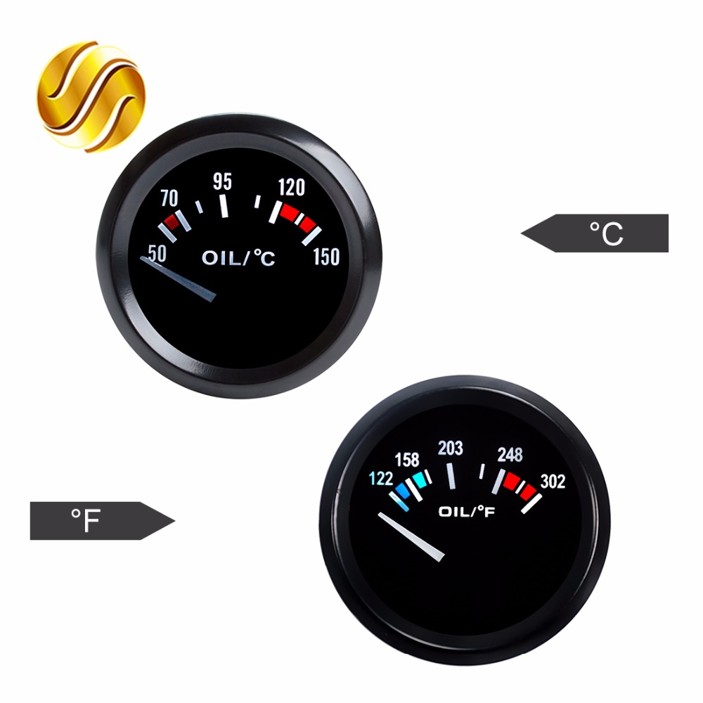 Online Shop Dragon Gauge Oil Temp Car 2 52mm 12v Auto Autogage Tachometer Item Aut233902 The Gage Tach Series Is One Of Instrument 50150 Celsius 122302 Fahrenheit Temperature Black Bezel Aliexpress Mobile