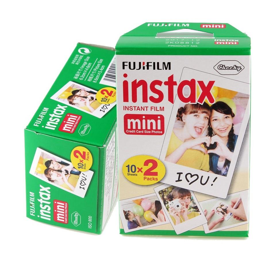 Prix pour 40 feuilles Fujifilm Instax Mini film pour Appareil Photo Instantané mini 8 7 s 25 50 s 90 Blanc Bord 3 pouce film Photo Papier
