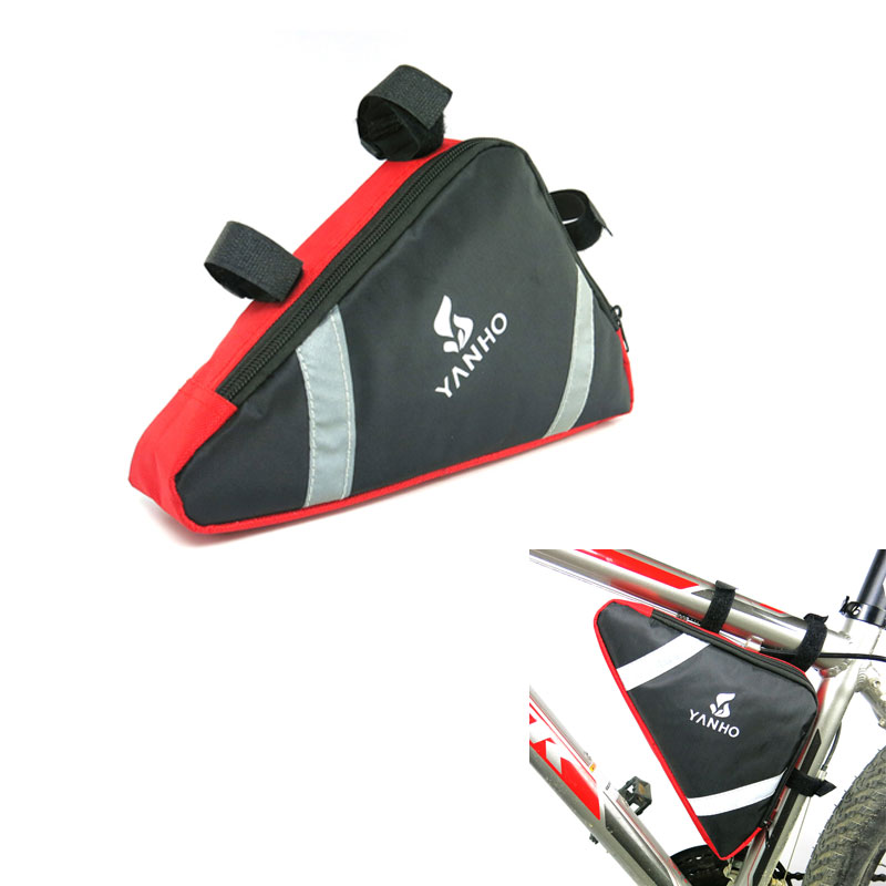 <font><b>YANHO</b></font> Oxford Triangle <font><b>Bike</b></font> <font><b>Bag</b></font> Cycling Front Frame <font><b>bag</b></font> MTB Mountain Road Riding Bicycle Tube Saddle <font><b>Bag</b></font> image