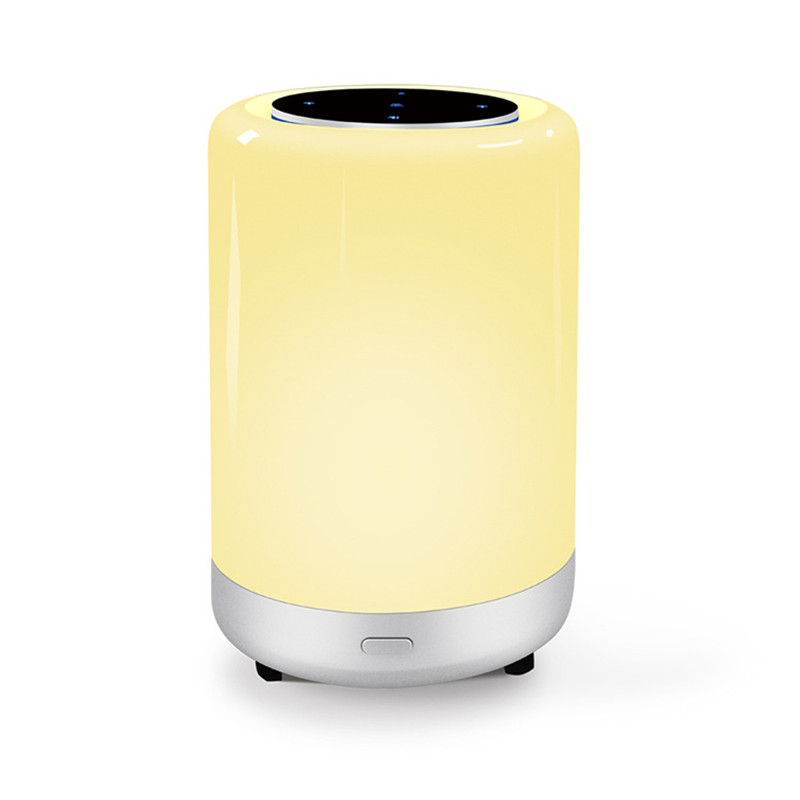 HZFCEW Smart Touch&APP Control Lamp Colorful Portable Night Light Bluetooth Speaker and Light All In One FR284