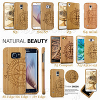 Karstadt Bamboo Laser Capa Wood Multi Cases Phone Cover For Samsung Galaxy NOTE 5 4 NOTE