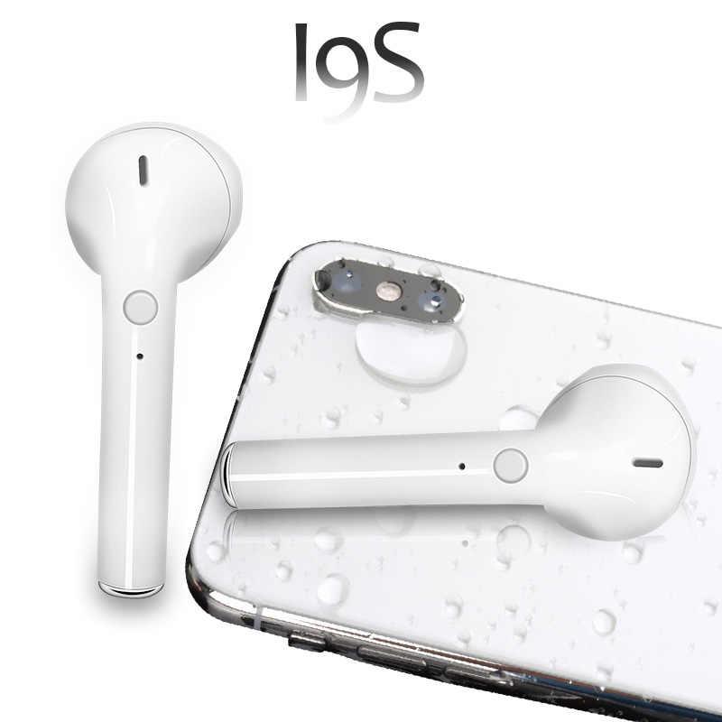 I9S TWS bezprzewodowe słuchawki przenośne 5.0 zestaw słuchawkowy bluetooth niewidoczne douszne dla wszystkich inteligentny telefon i10 max tws
