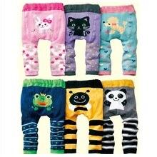 Детский hooyi/штаны для девочек; Одежда для мальчиков; трусики-подгузники; леггинсы для новорожденных; длинные брюки; колготки с рисунками животных