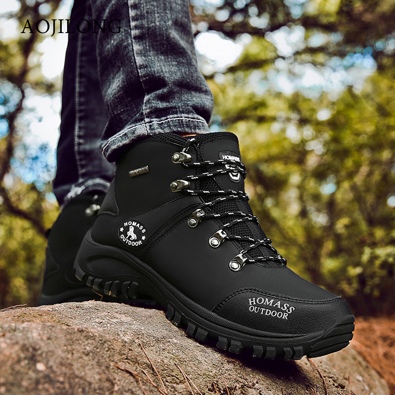 2019 Men Waterproof Hiking Shoes Breathable Tactical Combat Army Boots Outdoor Climbing Shoes Non-slip Trekking Sneakers For Men