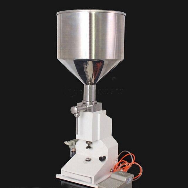 50ML pasta filling machine A02 A03 gel filling machine pneumatic filler liquids dosing filler sami-automatic food filler