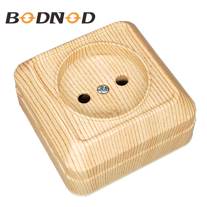 One Socket Wall Socket Without Ground European 250V 10A Power Wall Mount Charger Adapter Wood Grain Socket Legrand Schneider(China)
