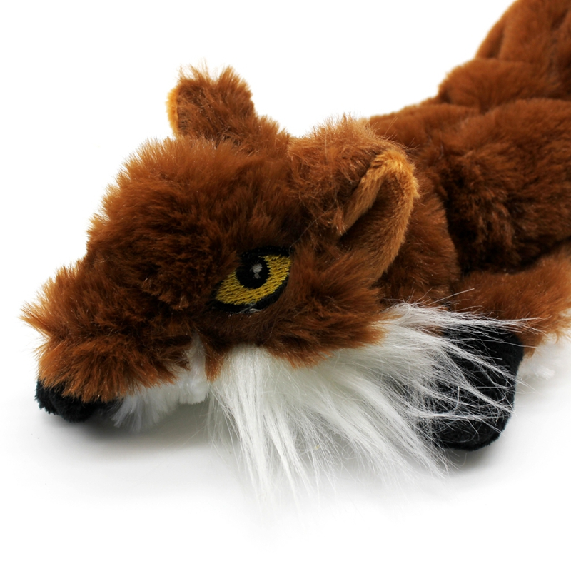 Cute Plush Toys Squeak For Dogs Chew Squeaker Pet Squeaky Animal Shaped Toy Squirrel  Dog Cat Toy Pet Supplies 17