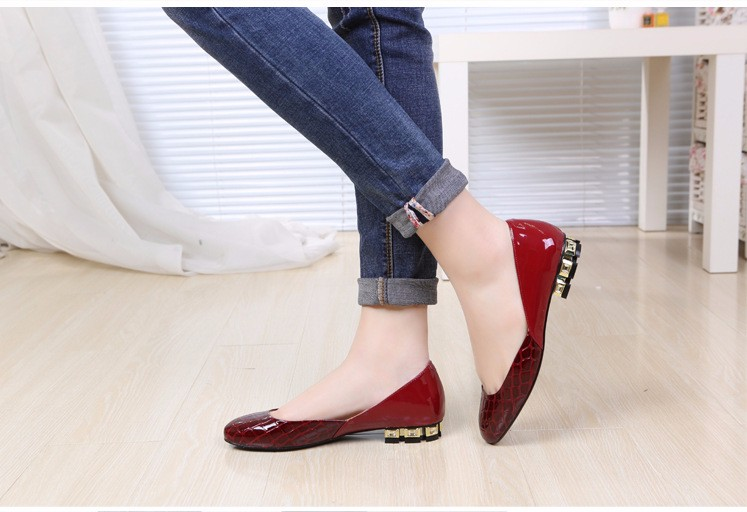 Flats Patent Leather Shoes 2016 New Arrival Casual Women Flat Shoes Summer D\'orsay Flats Plus Size 34-43 Ladies Shoes PX79 (24)