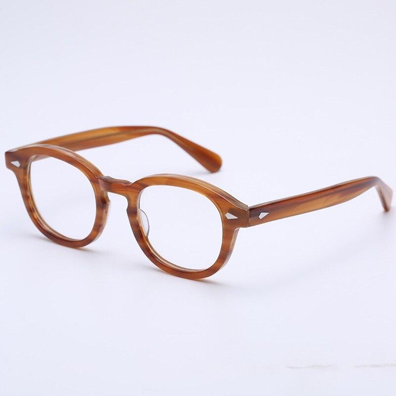 cc20c2b31cc Handmade Acetate Glasses frame Women Men Johnny Depp Eyewear Frames Brand  Designer Tortoise Optical Spectacle Demi