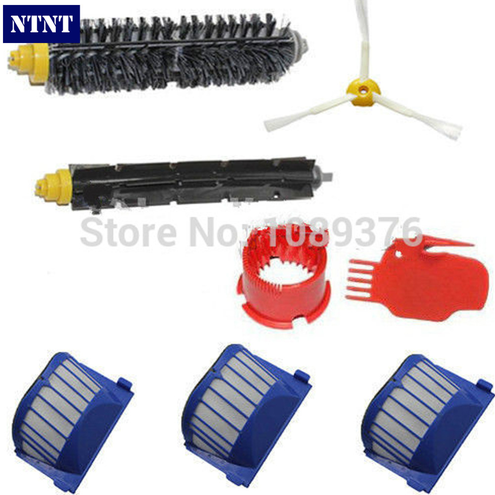 NTNT Free Post New AeroVac Filter + Brush + clean Tool kit For iRobot Roomba 600 Series 620 630 650 free post new blue 6 x aerovac filter for irobot roomba 600 series 620 630 650 660 670 680