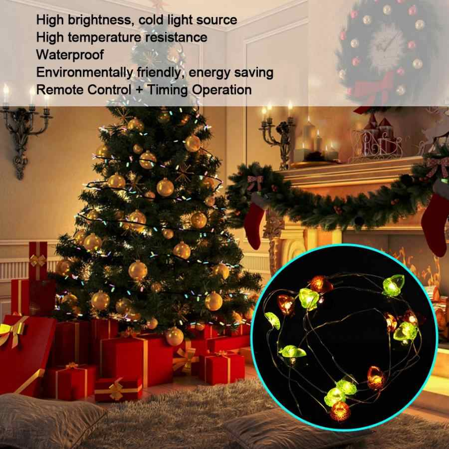 String Strawberry Light 3Meters 30LEDs Strawberry Waterproof Wire String Lights Decoration Lamp Remote Control