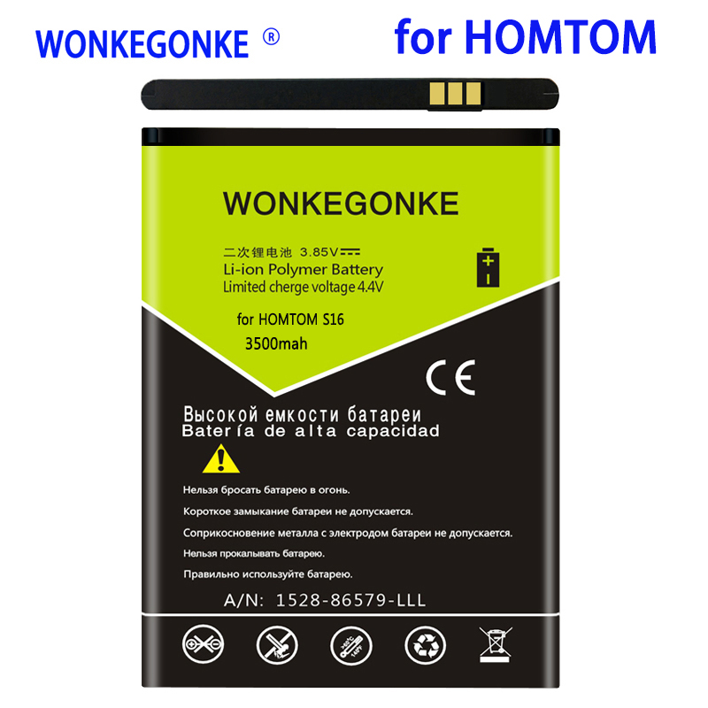 WONKEGONKE 3500mah For <font><b>HOMTOM</b></font> <font><b>S16</b></font> <font><b>battery</b></font> 5.5inch MTK6580 Replacement Mobile Phone <font><b>Batteries</b></font> Bateria image