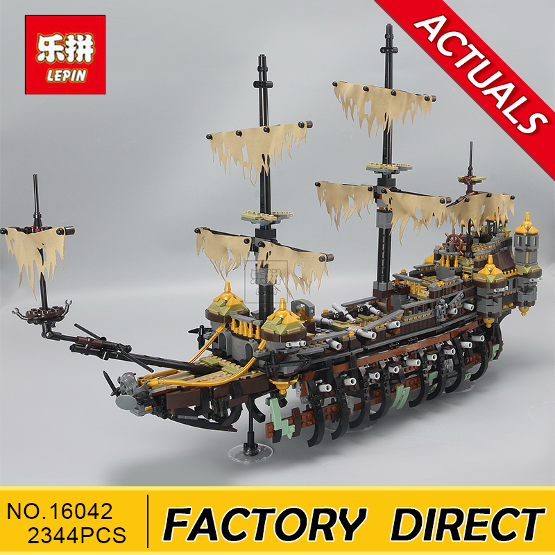 Lepin 16042 2344PCS Pirate of The CaribbeanThe Slient Mary Set Children Educational Building Blocks Bricks Toys Model Gift 71042 new lepin 16009 1151pcs queen anne s revenge pirates of the caribbean building blocks set compatible legoed with 4195 children
