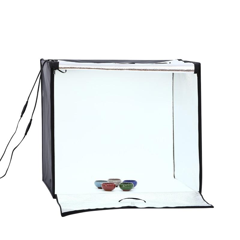60cm*60cm LED Professional Portable Softbox Box LED Photo Studio Video Lighting Tent With LED Light Photography Props
