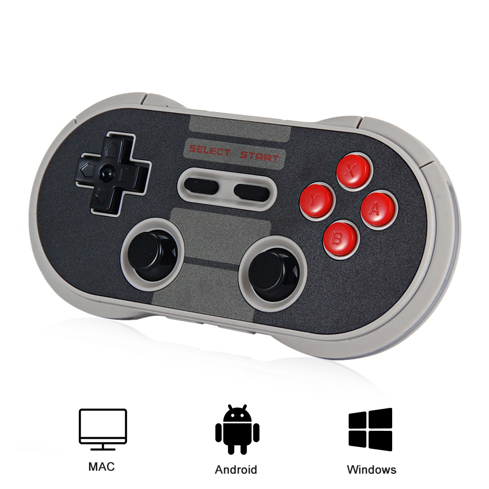Original 8Bitdo NES30 Pro Wireless Gamepad Bluetooth/USB Controller Dual Classic Joystick for Android,Windows,Mac OSX,Switch