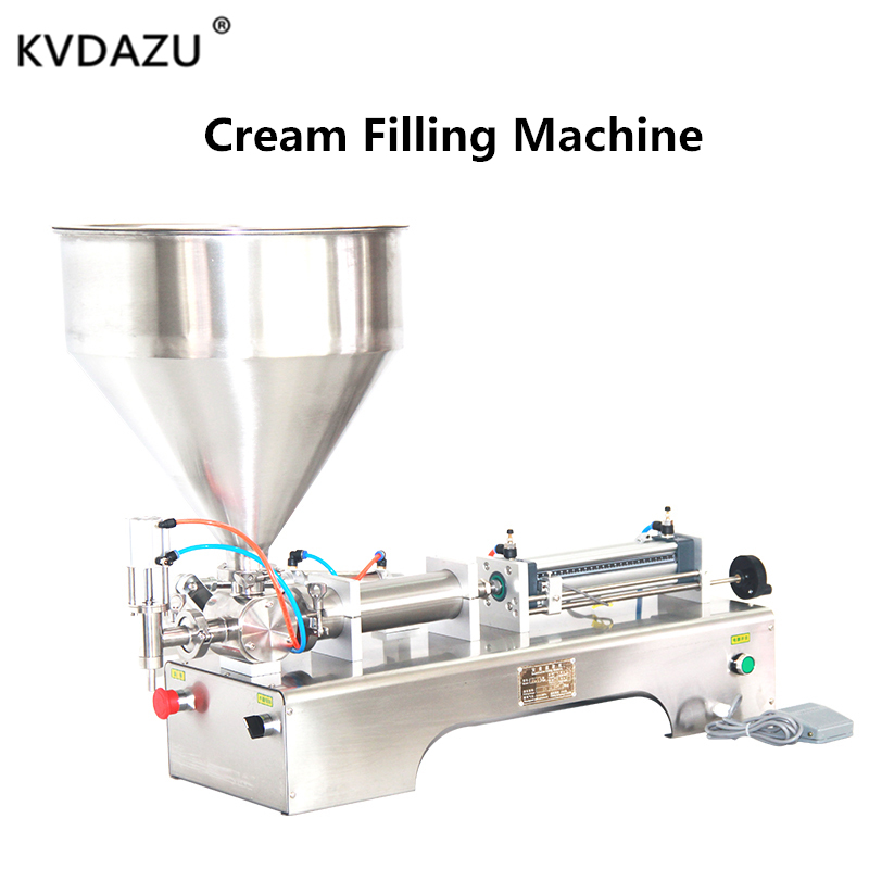Lotion Shampoo Cream Filler Honey Paste Peanut Butter Pneumatic Automatic Piston Moisturizer Cosmetic Oil Food Filling Machine