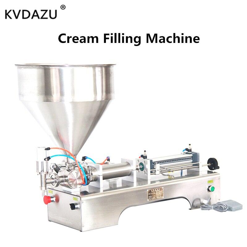 Lotion shampooing crème de remplissage pâte de miel beurre d'arachide pneumatique automatique Piston hydratant cosmétique huile alimentaire machine de remplissage