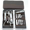 12 pcs Kit de unhas profissional Manicure Pedicure arquivo ferramentas de unhas pinça Earpick Cuticle Pusher