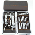 12pcs Professional Nail Kit Manicure Pedicure Set Tools with Case Nails Nipper File Earpick Cuticle Pusher