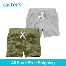 Carter s 2 Pack baby children kids clothing Boy Spring Summer Cotton Pull On Shorts 126H211