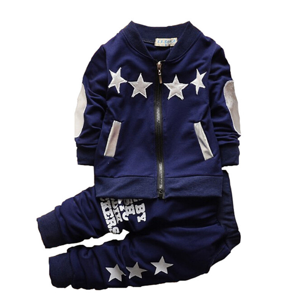 BibiCola Autumn Baby Boy Clothing Set Bebe Sport Suit Sets Top Coat + Pants 2pcs Toddle Children Tracksuit Infant Clothing 2pcs baby boy clothing set autumn baby boy clothes cotton children clothing roupas bebe infant baby costume kids t shirt pants