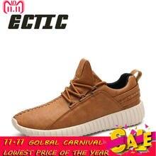 671f89e9 ECTIC/Новая мужская повседневная обувь, дышащие удобные кроссовки, легкие  туфли на плоской подошве, модные мягкие Молодежные муж.