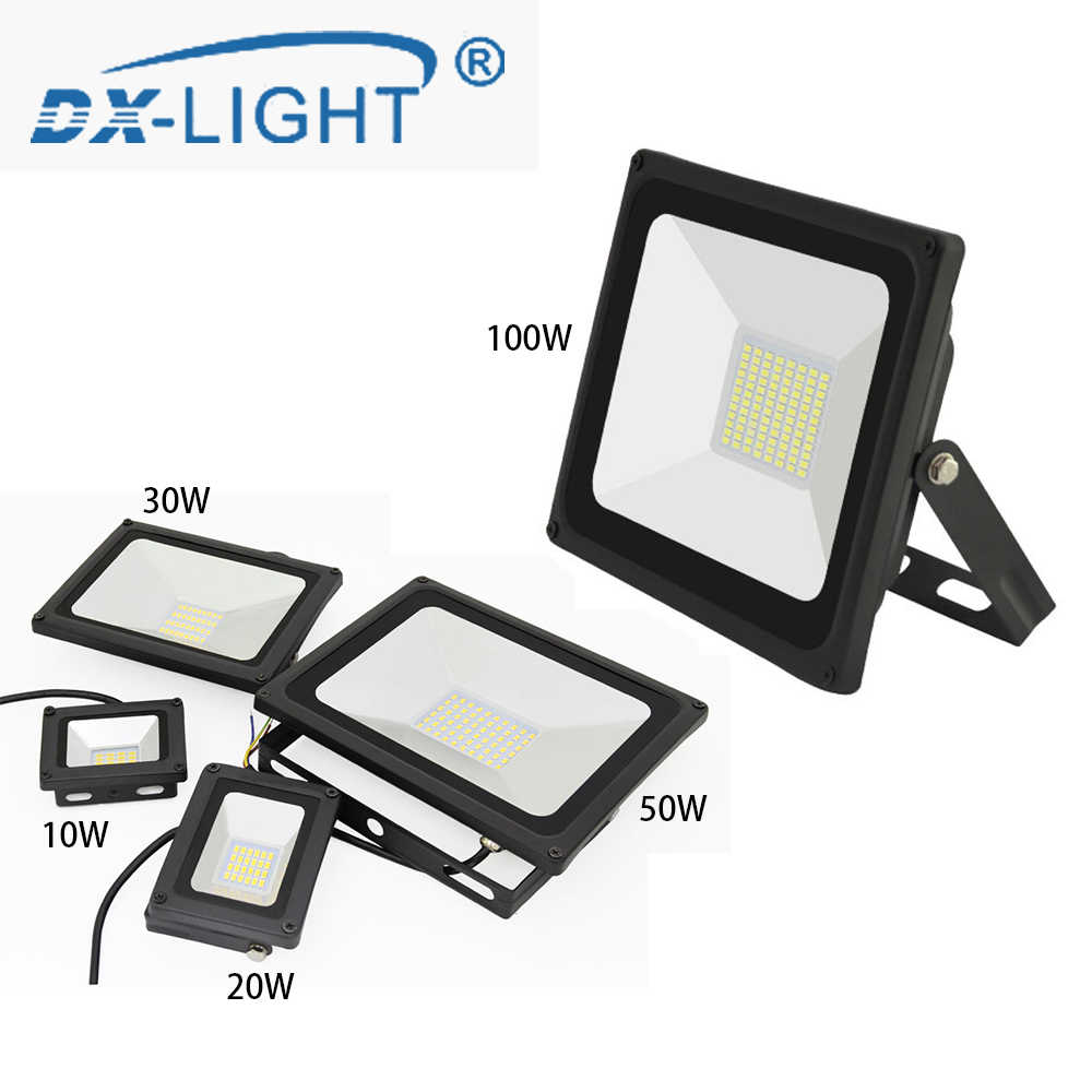 Warm White/Cold White LED Flood Light 10W 20W 30W 50W 100W IP65 Waterproof 230V Garden Floodlight Outdoor Wall Lamp Spotlight