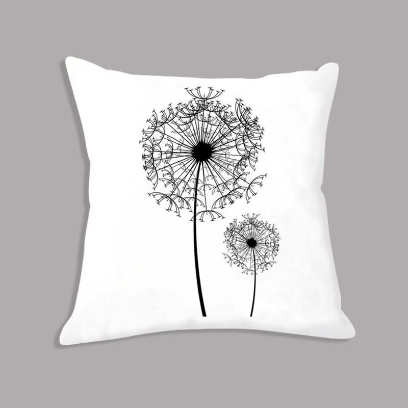 Superb Us 5 85 35 Off Dandelion Flower Minimalist Cushion Makeup Black White Decorative Cushion For Sofa Throw Pillows For Children Room Decoration In Uwap Interior Chair Design Uwaporg
