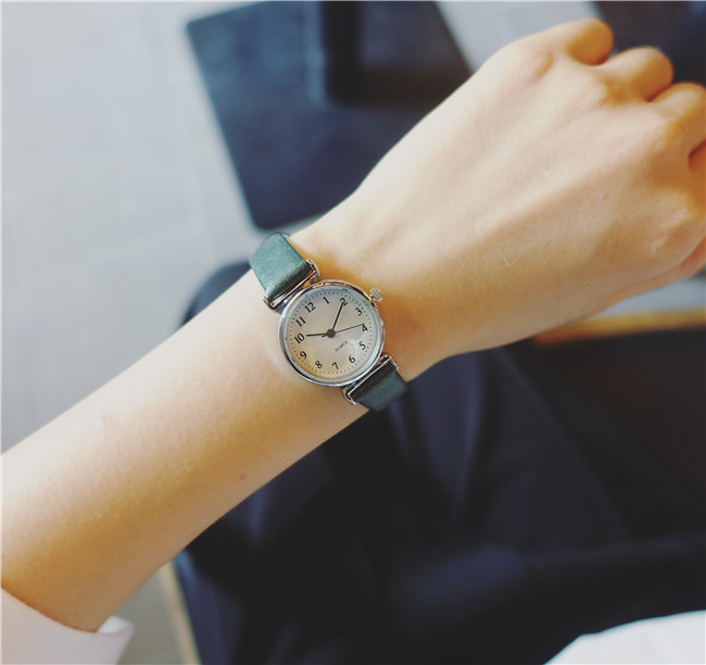 Luobos New Fashion Watch Women Simple Elegant Style Leather Strap Small Sliver Dial Casual Quartz Watch Ladies Popular Clock luobos small dial women watch fashion casual leather quartz wrist watches ladies hot sale simple style watched relogio feminino