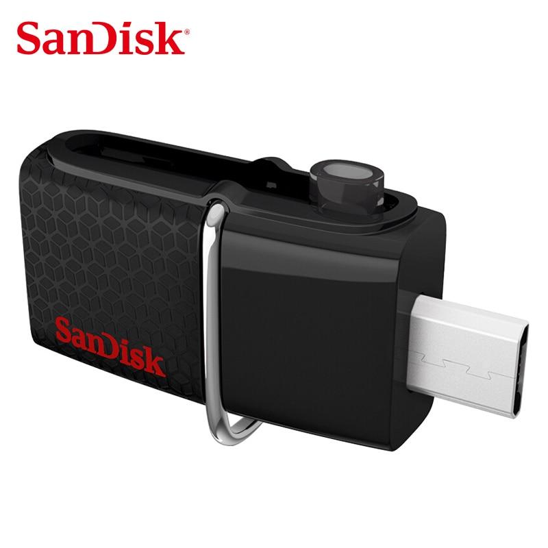 SanDisk Ultra Dual OTG SDDD2 USB Flash Drive 128GB 64GB 32GB 16GB 150M/S USB 3.0 Pen Drive 128GB Support 0fficial Verification