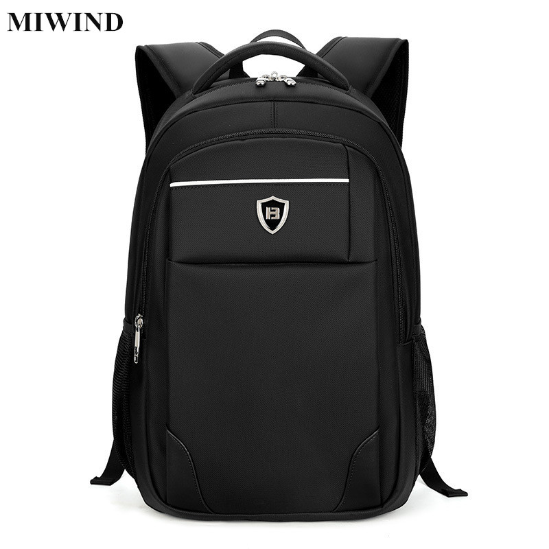 ФОТО MIWIND Mens Business Backpack Waterproof 15.6inch Laptop Backpack Computer Bag Anti-theft Travel Back Pack Students School Bags