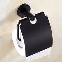 Matte black Toilet Paper Holder,Rustproof, Waterproof, Heavy Duty, Stainless Steel Wall Mounted Roll Tissue Paper Holder