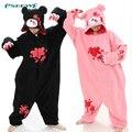 Новые Мрачные Медведь Мода Onesie Пижамы Все в Одном Pyjama Животных Подходит Косплей Взрослых Одежды Милый Мультфильм Животных костюм ночная рубашка